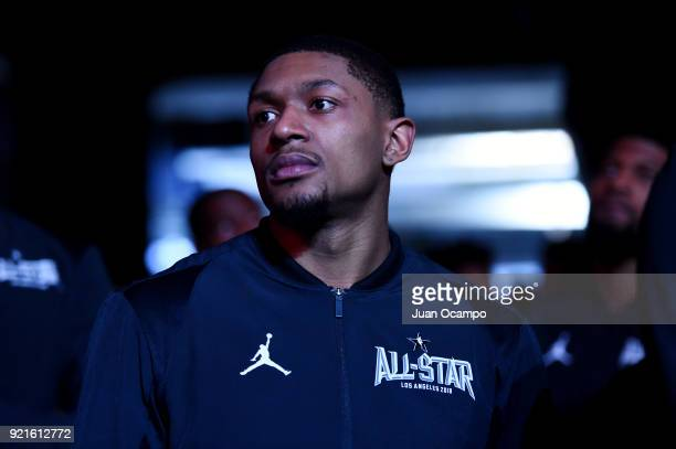 Bradley Beal of team LeBron looks on prior to the NBA AllStar Game as a part of 2018 NBA AllStar Weekend at STAPLES Center on February 18 2018 in Los...