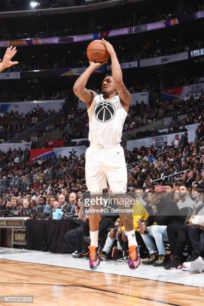 Bradley Beal Of Team LeBron shoots the ball during the NBA AllStar Game as a part of 2018 NBA AllStar Weekend at STAPLES Center on February 18 2018...