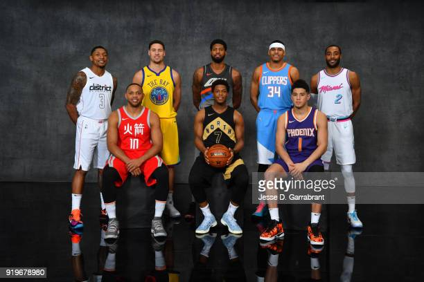 Bradley Beal of the Washington Wizards Eric Gordon of the Houston Rockets Klay Thompson of the Golden State Warriors Paul George of the Oklahoma City...