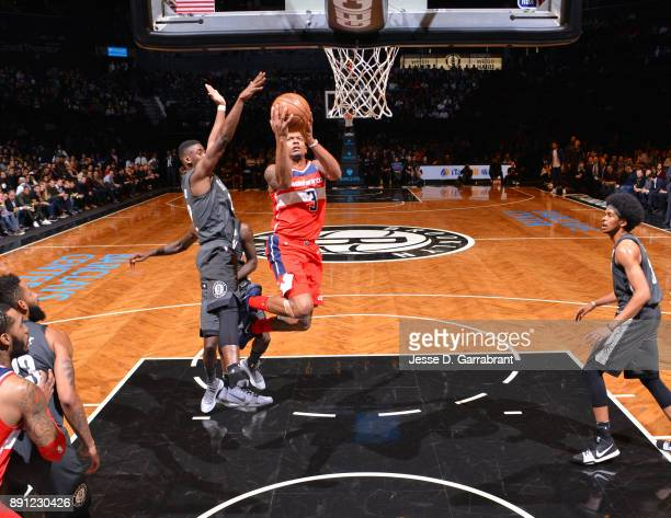 Bradley Beal of the Washington Wizards glides to the basket against the Brooklyn Nets on December 12 2017 at Barclays Center in Brooklyn New York...
