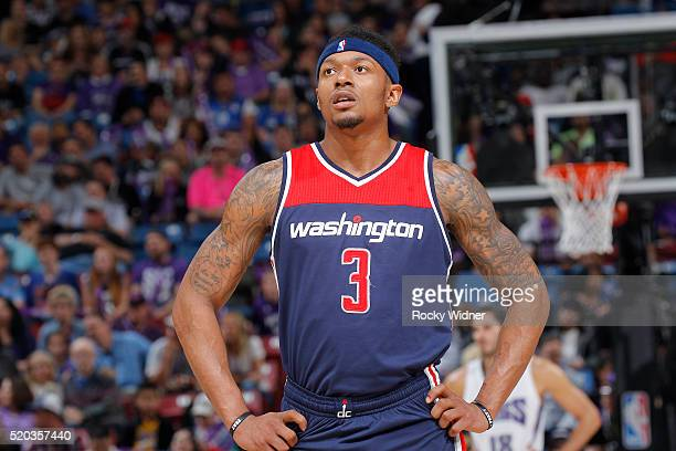 Bradley Beal of the Washington Wizards looks on during the game against the Sacramento Kings on March 30 2016 at Sleep Train Arena in Sacramento...