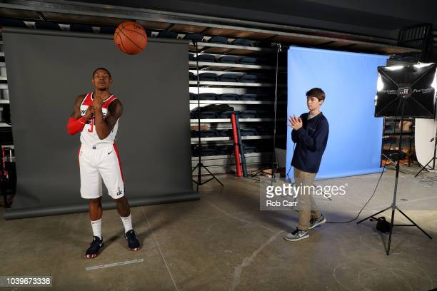 Bradley Beal of the Washington Wizards poses during media day at Entertainment and Sports Arena on September 24 2018 in Washington DC NOTE TO USER...