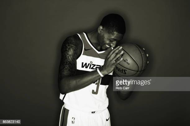 Bradley Beal of the Washington Wizards poses during media day at Capital One Arena on September 25 2017 in Washington DC NOTE TO USER User expressly...