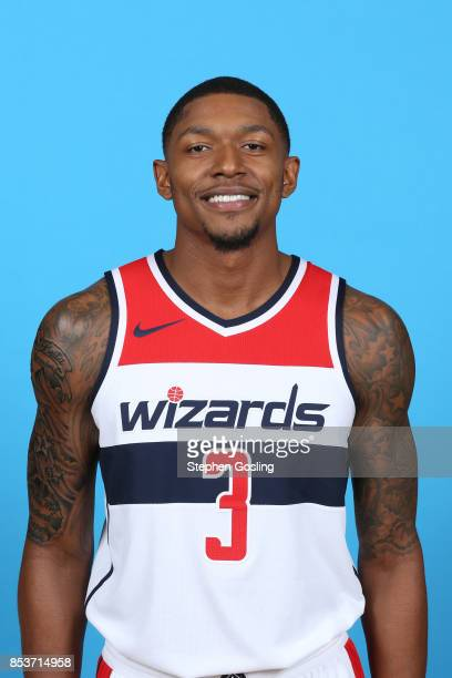 Bradley Beal of the Washington Wizards poses for a head shot during Media Day on September 25 2017 at Captial One Center in Washington DC NOTE TO...
