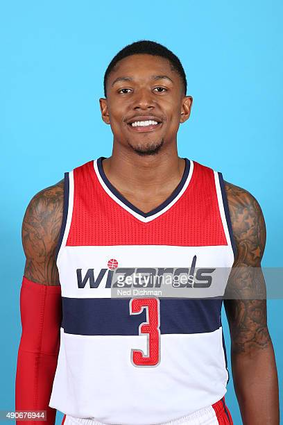 Bradley Beal of the Washington Wizards poses for a photo during 2015 media day at the Verizon Center on May 18 2015 in Washington DC NOTE TO USER...