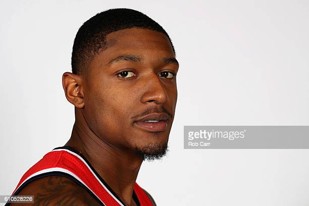 WASHINGTON DC SEPTEMBER Bradley Beal of the Washington Wizards poses for a photo during media day at Verizon Center on September 26 2016 in...