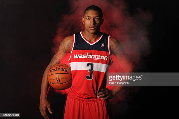 Bradley Beal of the Washington Wizards poses for a portrait during the 2012 NBA rookie photo shoot on August 21 2012 at the MSG Training Facility in...