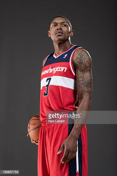 Bradley Beal of the Washington Wizards poses for a portrait during the 2012 NBA Rookie Photo Shoot at the MSG Training Center on August 21 2012 in...