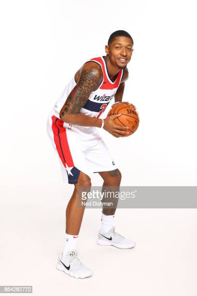 Bradley Beal of the Washington Wizards poses for a portrait during Media Day on September 25 2017 at Capital One Center in Washington DC NOTE TO USER...