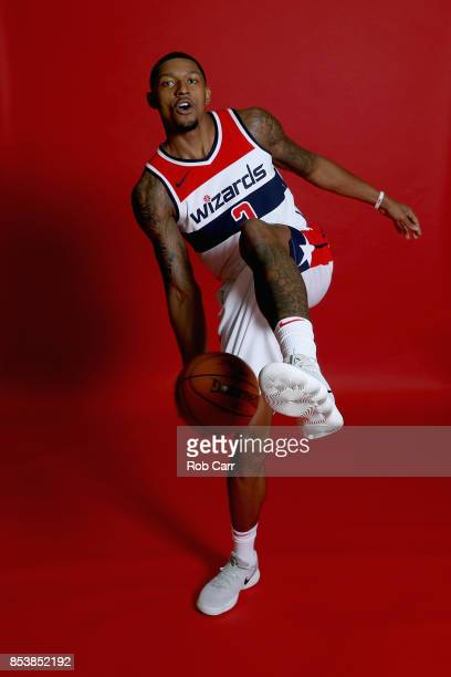 Bradley Beal of the Washington Wizards poses for a portrait on media day at Capital One Arena on September 25 2017 in Washington DC NOTE TO USER User...