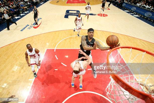 Bradley Beal of the Washington Wizards shoots the ball against the Miami Heat on March 23 2019 at Capital One Arena in Washington DC NOTE TO USER...