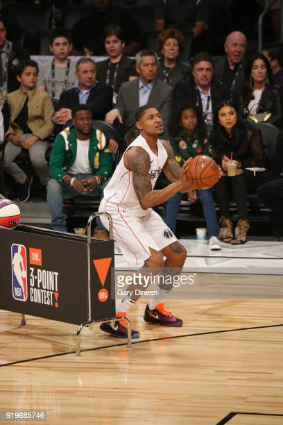 Bradley Beal of the Washington Wizards shoots the ball during the JBL ThreePoint Contest during State Farm AllStar Saturday Night as part of the 2018...