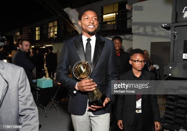 Bradley Beal winner of the NBA Cares Community Assist Award presented by Kaiser Permanente is seen during the 2019 NBA Awards presented by Kia on TNT...