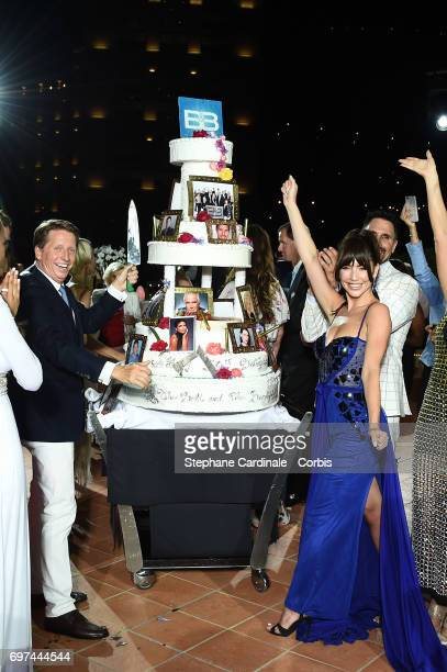 Bradley Bell and Jacqueline MacInnes Wood attend the 'The Bold and The Beautiful' 30th Years Anniversary Party at The MonteCarlo Bay Hotel during the...