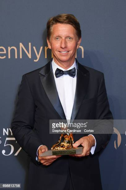 Bradley Bell poses with his award after the Closing Ceremony of the 57th Monte Carlo TV Festival on June 20 2017 in MonteCarlo Monaco