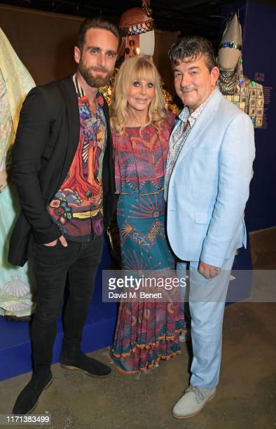 Bradley Clarkson Britt Ekland and John Altman attend a private view of Zandra Rhodes 50 Years Of Fabulous at The Fashion and Textile Museum on...