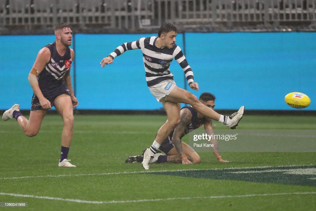 AFL Rd 8 - Fremantle v Geelong : News Photo