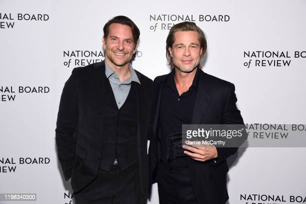 Bradley Cooper and Brad Pitt attend The National Board of Review Annual Awards Gala at Cipriani 42nd Street on January 08 2020 in New York City