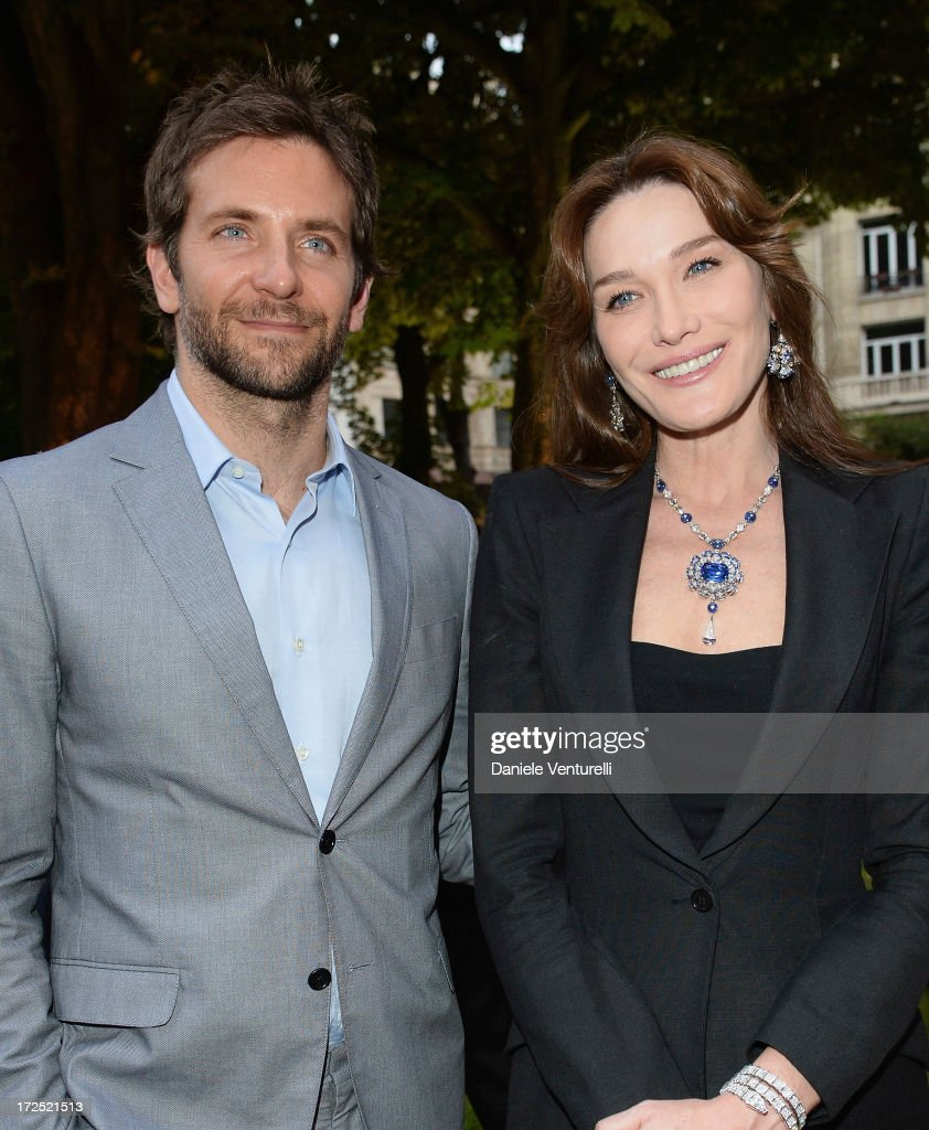 Bradley Cooper and Carla Bruni attend the Bulgari Diva Event at Hotel Potocki on July 2, 2013 in Paris, France.