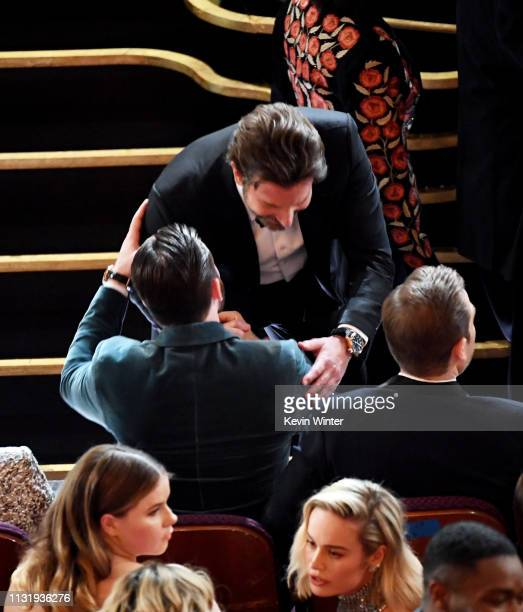 Bradley Cooper and Chris Evans during the 91st Annual Academy Awards at Dolby Theatre on February 24 2019 in Hollywood California