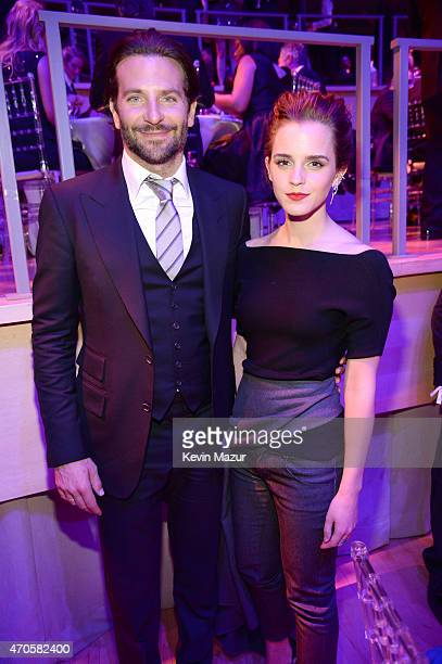 Bradley Cooper and Emma Watson attend TIME 100 Gala TIME's 100 Most Influential People In The World at Jazz at Lincoln Center on April 21 2015 in New...