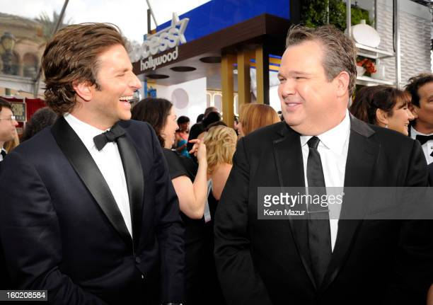Bradley Cooper and Eric Stonestreet attend the 19th Annual Screen Actors Guild Awards at The Shrine Auditorium on January 27 2013 in Los Angeles...