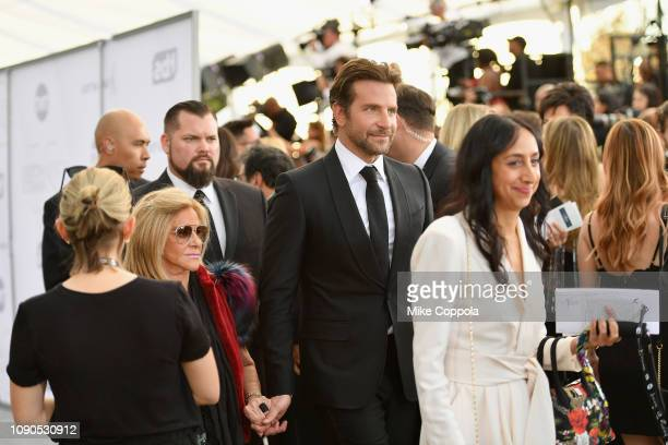 Bradley Cooper and Gloria Campano attend the 25th Annual Screen Actors Guild Awards at The Shrine Auditorium on January 27 2019 in Los Angeles...