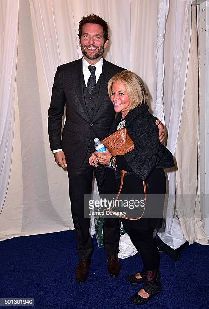 Bradley Cooper and Gloria Campano attend the Joy New York Premiere at Ziegfeld Theater on December 13 2015 in New York City