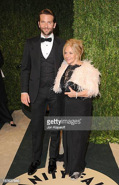 Bradley Cooper and Gloria Cooper attend the 2013 Vanity Fair Oscar party at Sunset Tower on February 24 2013 in West Hollywood California