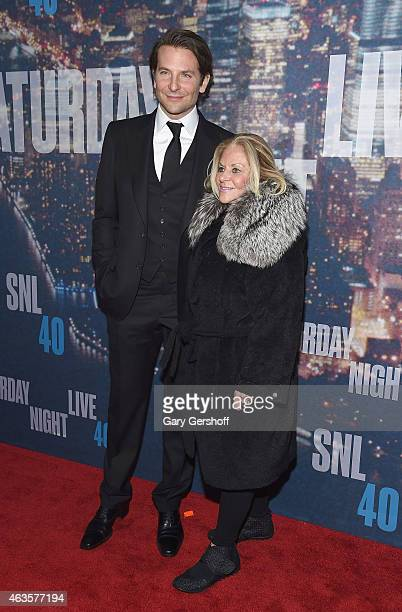 Bradley Cooper and his mother Gloria Campano attend the SNL 40th Anniversary Celebration at Rockefeller Plaza on February 15 2015 in New York City