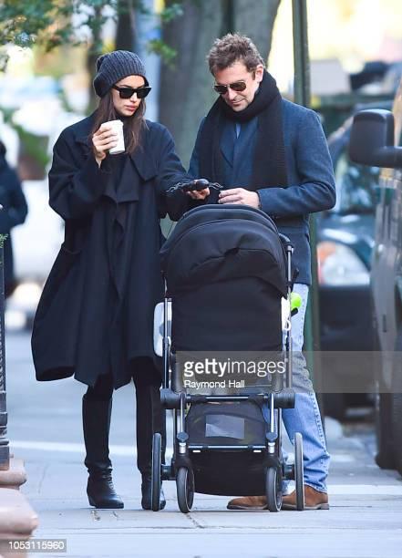 Bradley Cooper and Irina Shayk are seen walking in soho on October 24 2018 in New York City