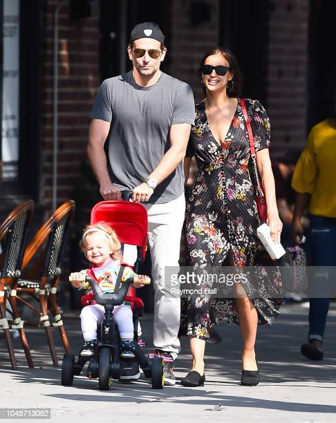 Bradley Cooper and Irina Shayk are seen walking in Soho on October 4 2018 in New York City