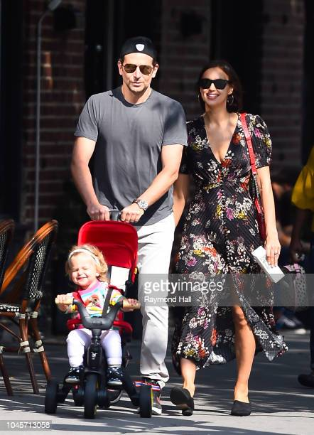 Bradley Cooper and Irina Shayk are seen walking in Soho on October 4 2018 in New York City