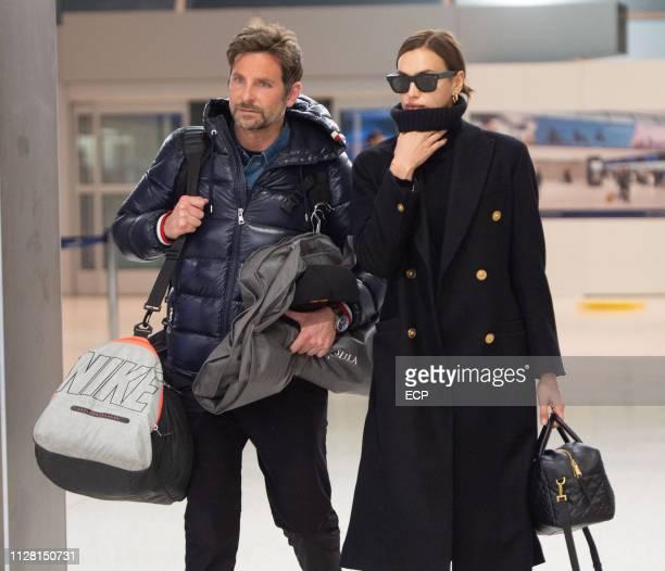 Bradley Cooper and Irina Shayk arrive at JFK airport on February 7 2019 in New York City
