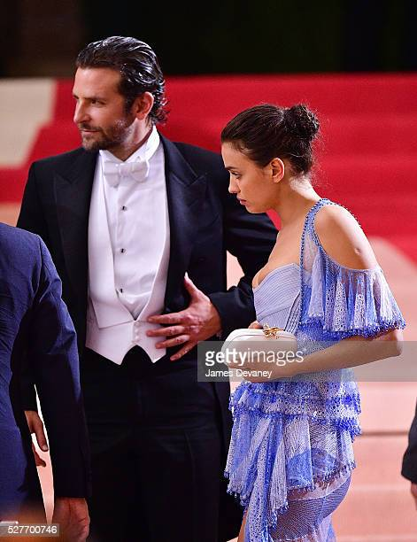 Bradley Cooper and Irina Shayk attend 'Manus x Machina Fashion in an Age of Technology' Costume Institute Gala at Metropolitan Museum of Art on May 2...