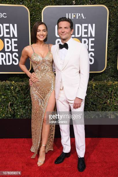 Bradley Cooper and Irina Shayk attend the 76th Annual Golden Globe Awards at The Beverly Hilton Hotel on January 6 2019 in Beverly Hills California