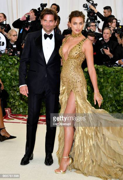 Bradley Cooper and Irina Shayk attend the Heavenly Bodies Fashion The Catholic Imagination Costume Institute Gala at The Metropolitan Museum of Art...