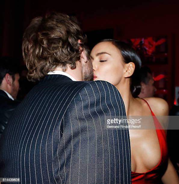 Bradley Cooper and Irina Shayk attend the L'Oreal Red Obsession Party as part of the Paris Fashion Week Womenswear Fall/Winter 2016/2017 on March 8...