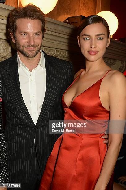 Bradley Cooper and Irina Shayk attends the Red Obsession party in Paris to celebrate L'Oreal Paris's partnership with Paris Fashion Week L'Oreal...