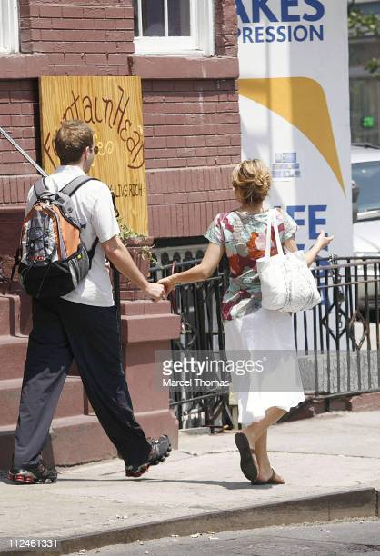 Bradley Cooper and Jennifer Esposito during Jennifer Esposito and Bradley Cooper Sighting in New York May 30 2006 at West Village in New York City...