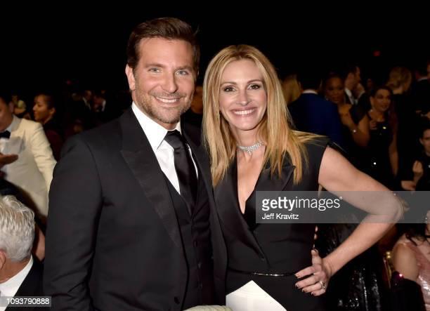 Bradley Cooper and Julia Roberts at The 24th Annual Critics' Choice Awards at Barker Hangar on January 13 2019 in Santa Monica California