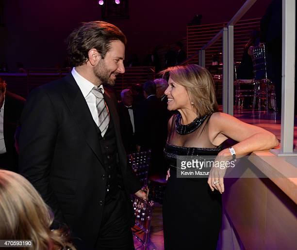 Bradley Cooper and Katie Couric attend TIME 100 Gala TIME's 100 Most Influential People In The World at Jazz at Lincoln Center on April 21 2015 in...
