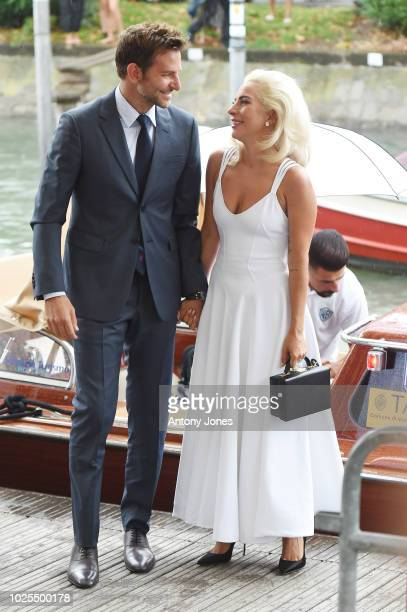 Bradley Cooper and Lady Gaga are seen during the 75th Venice Film Festival on August 31 2018 in Venice Italy