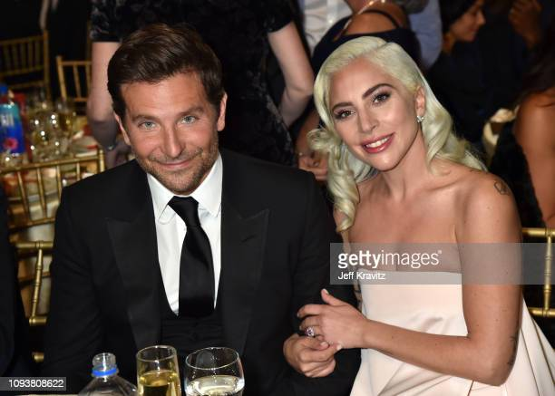 Bradley Cooper and Lady Gaga at The 24th Annual Critics' Choice Awards at Barker Hangar on January 13 2019 in Santa Monica California