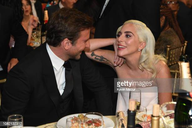 Bradley Cooper and Lady Gaga attend the 24th annual Critics' Choice Awards at Barker Hangar on January 13 2019 in Santa Monica California