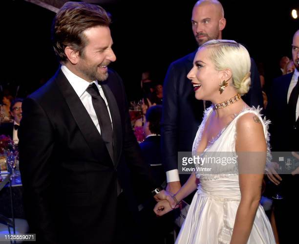 Bradley Cooper and Lady Gaga attend the 25th Annual Screen Actors Guild Awards at The Shrine Auditorium on January 27 2019 in Los Angeles California