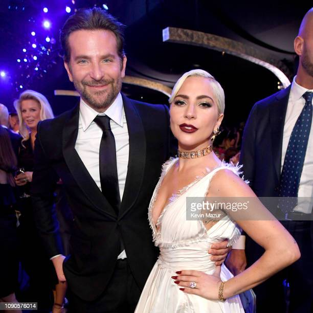 Bradley Cooper and Lady Gaga attend the 25th Annual Screen Actors Guild Awards at The Shrine Auditorium on January 27 2019 in Los Angeles California...