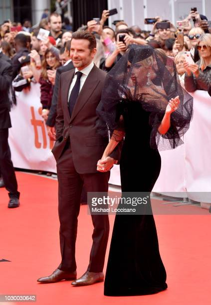 Bradley Cooper and Lady Gaga attend the 'A Star Is Born' premiere during 2018 Toronto International Film Festival at Roy Thomson Hall on September 9...