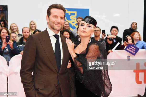 Bradley Cooper and Lady Gaga attend the A Star Is Born premiere during 2018 Toronto International Film Festival at Roy Thomson Hall on September 9...