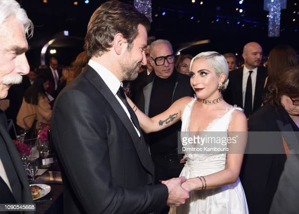 Bradley Cooper and Lady Gaga during the 25th Annual Screen Actors Guild Awards at The Shrine Auditorium on January 27 2019 in Los Angeles California...